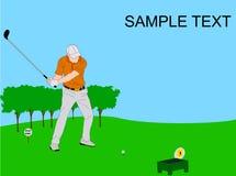 Silhueta do jogador de golfe Fotografia de Stock