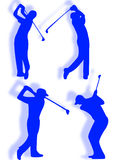 Silhueta do jogador de golfe ilustração royalty free