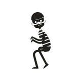 Silhueta do ladrão isolada no branco Ilustração do vetor ilustração royalty free