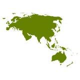 Silhueta do mapa de Eurasia Imagem de Stock Royalty Free