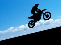 Silhueta do motociclista Fotos de Stock Royalty Free