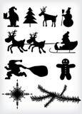 Silhueta do Natal Foto de Stock