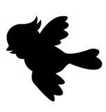 Silhueta do pássaro Imagem de Stock