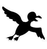 Silhueta do pássaro Imagem de Stock Royalty Free