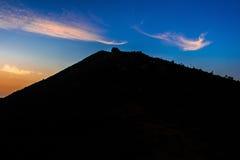 Silhueta do parque nacional de Seoraksan, o melhor da montanha em Coreia Imagens de Stock Royalty Free