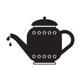 Silhueta do potenciômetro do chá ilustração do vetor