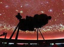 Silhueta do projetor da estrela fotografia de stock