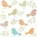 Silhueta do teste padrão dos pássaros Imagens de Stock Royalty Free