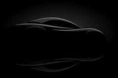 Silhueta do veículo do carro de esportes do conceito ilustração royalty free