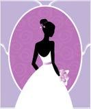 Silhueta do vestido de casamento Fotos de Stock
