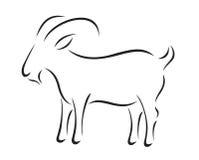 Silhueta do vetor da cabra Imagem de Stock