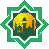 Silhueta do vetor da mesquita Fotografia de Stock Royalty Free