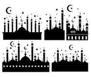 Silhueta do vetor da mesquita azul Imagem de Stock Royalty Free