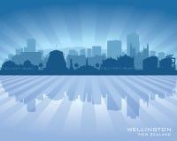 Silhueta do vetor da skyline da cidade de Wellington New Zealand ilustração do vetor