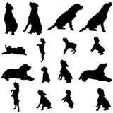 Silhueta do vetor de um cão Imagens de Stock Royalty Free