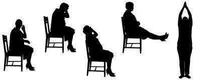 Silhueta do vetor de uma mulher adulta Imagens de Stock