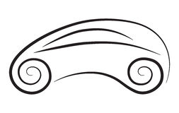 Silhueta do vetor do carro conceptual Fotografia de Stock