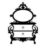 Silhueta do vetor do espelho do console Fotografia de Stock Royalty Free