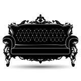 Silhueta do vetor do sofá Fotos de Stock Royalty Free