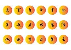 Silhueta dos ícones do vetor do esporte Foto de Stock