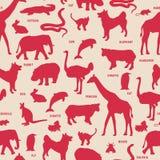 Silhueta dos animais. Fotos de Stock Royalty Free