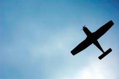 Silhueta dos aviões fotos de stock royalty free
