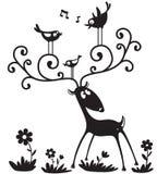Silhueta dos cervos Foto de Stock Royalty Free