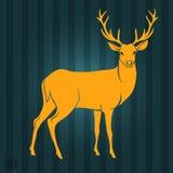 Silhueta dos cervos Imagem de Stock