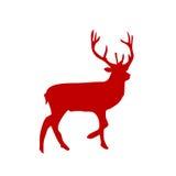 Silhueta dos cervos Imagens de Stock Royalty Free
