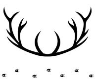 Silhueta dos chifres dos cervos Fotografia de Stock