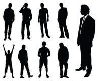 Silhueta dos homens Fotografia de Stock Royalty Free