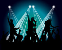 Silhueta dos músicos do Grunge Fotografia de Stock Royalty Free