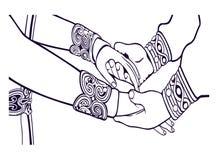 Silhueta dos pares do casamento Ilustração da união Soluço com Astrid Wedding ilustração do vetor