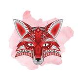 Silhueta estilizado modelada da raposa principal Fotografia de Stock Royalty Free