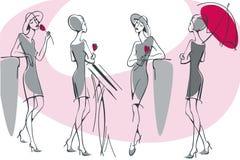 Silhueta feminino 2. Imagens de Stock Royalty Free