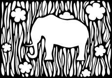 Silhueta gráfica de um elefante Fotografia de Stock Royalty Free
