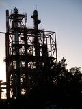 Silhueta industrial. foto de stock royalty free