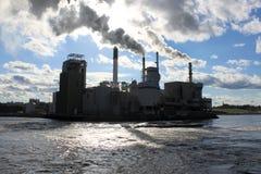 Silhueta industrial Imagens de Stock