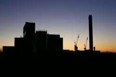 Silhueta industrial Fotos de Stock Royalty Free