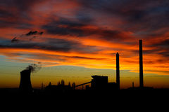Silhueta industrial imagens de stock royalty free