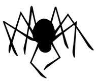 Silhueta isolada da aranha Foto de Stock