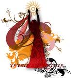 Silhueta isolada de um dançarino 2 ilustração royalty free