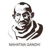 Silhueta Mahatma Gandhi ilustração royalty free