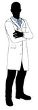Silhueta masculina do doutor Foto de Stock Royalty Free