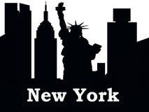 Silhueta New York de New York City ilustração royalty free