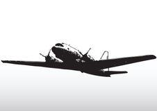 silhueta plana da aviação Fotografia de Stock