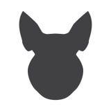 Silhueta preta da cabeça do porco em um fundo branco Ilustração do vetor ilustração stock