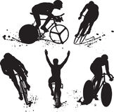 Silhueta preta do bycicle Imagens de Stock Royalty Free
