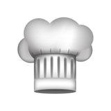 Silhueta realística do chapéu dos cozinheiros chefe com detalhes ilustração do vetor