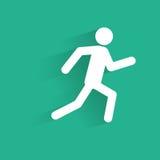 Silhueta running do ícone do homem com ilustração do vetor da sombra Foto de Stock Royalty Free